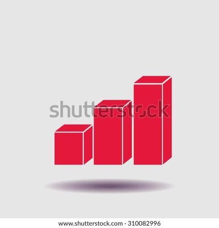 3D diagram icon, vector illustration. Flat design style. - stock vector