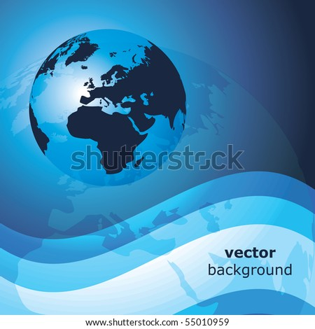 3d earth abstract background - vector illustration