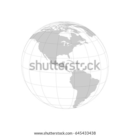 D Earth Globe Map World On Stock Vector Shutterstock - Blank globe map