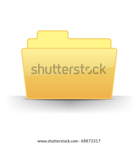 3D empty files folder icon vector illustration - stock vector