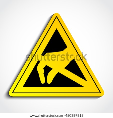 3 D Esd Triangle Symbol Electrostatic Discharge Stock Vector