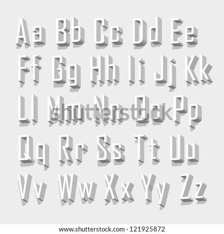 3d font - stock vector