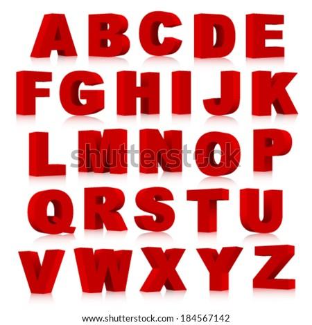 3d font, Vector illustration. - stock vector