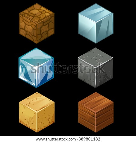 Building Video Game Of Textured Cubes