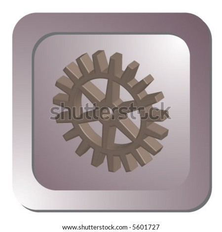 3D gear - stock vector