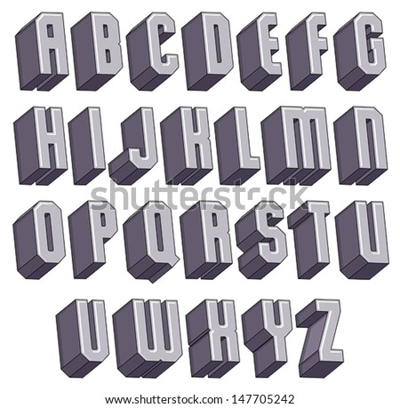 3d geometric font halftone dots texture stock vector With 3 dimensional alphabet letters