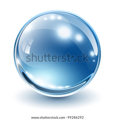 3D glass sphere, vector illustration. - stock vector