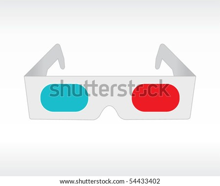 3D Glasses - stock vector