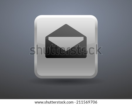 3d glossiness button icon of letter