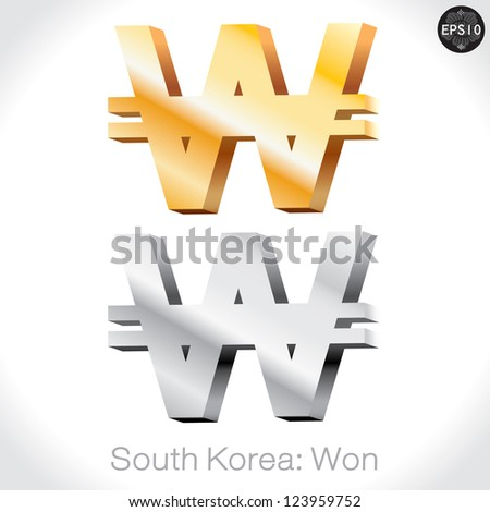 south korean won symbol
