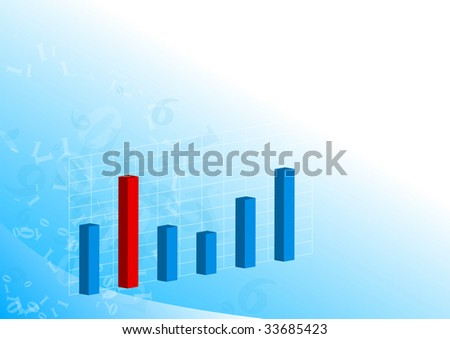 3D graph on light blue background.