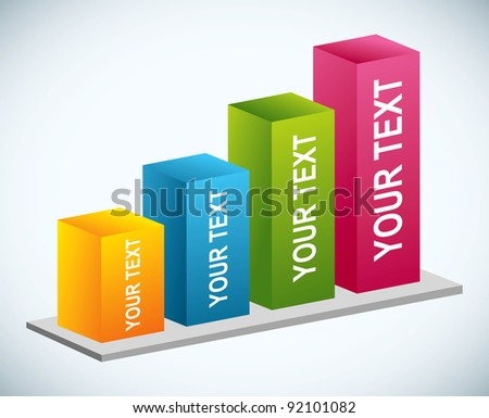 3d graphic chart - stock vector
