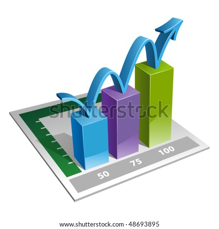 3D graphic. Vector illustration - stock vector