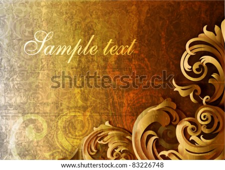 3d grungy floral background - vector illustration - stock vector