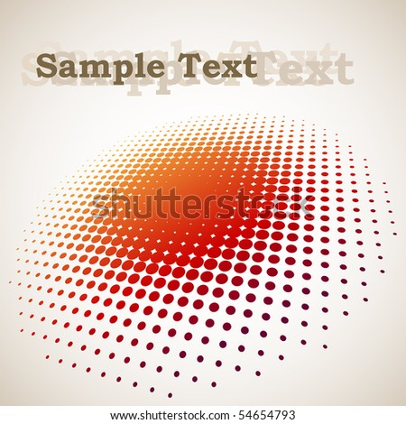 3D halftone circle background with copy space - stock vector