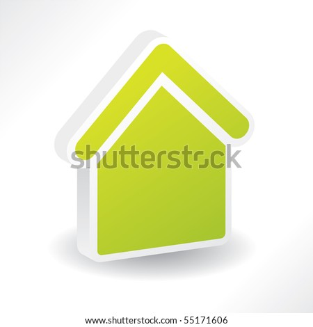 3d home - stock vector