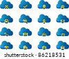 3d Icons for Cloud Computing - stock vector