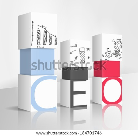 3d illustration concept: CEO - stock vector