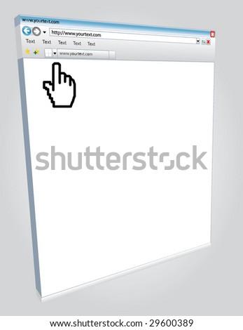 3d Illustration of internet window - stock vector