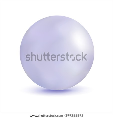 3D illustration, sphere with a pearl effect. Vector element for design. - stock vector