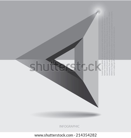 3d info graphic triangle concept