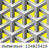 3d interlaced parts  seamless pattern - stock vector