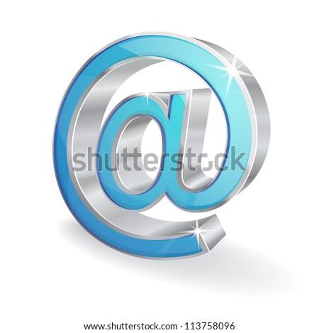 3d Internet Vector Sign - stock vector