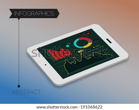 3d isometric infographics concept - stock vector