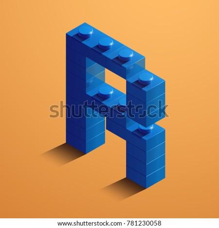 3 d isometric letter r alphabet lego stock vector royalty free 3d isometric letter r of the alphabet from lego bricks 3d isometric plastic letter from altavistaventures Image collections