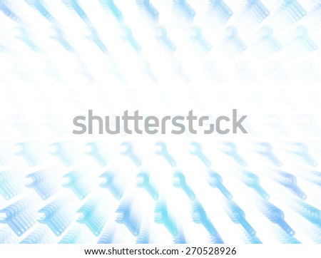 3d layered vector background with wrench icon template. Abstract transparent background with perspective for poster, banner, web. - stock vector