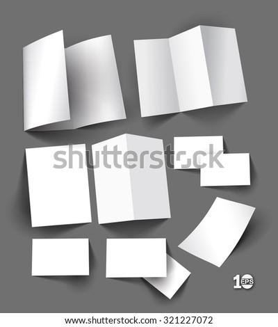 3D Mock-up For Business Stationery Design. - stock vector