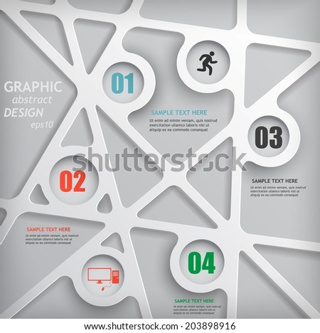 3d modern design social networking, data communications, web and digital information - stock vector