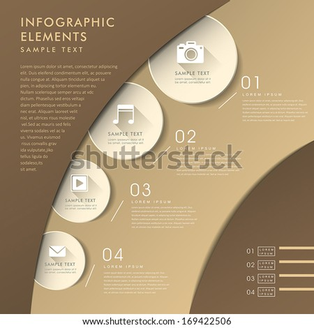 3d modern vector abstract chart infographic elements - stock vector