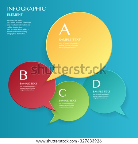 3D modern vector abstract step lable (Speech bubble) infographic elements  for business , banners , web site , brochures - stock vector