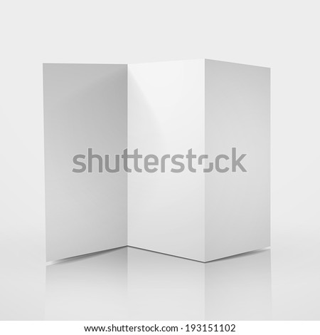 3d modern vector flyer with zig zag Z-Fold - stock vector