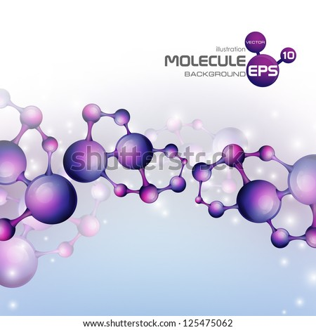 3d molecule background. Vector illustration. Eps 10. - stock vector