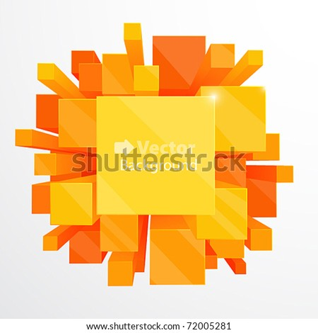 3d orange abstract background - vector illustration - stock vector