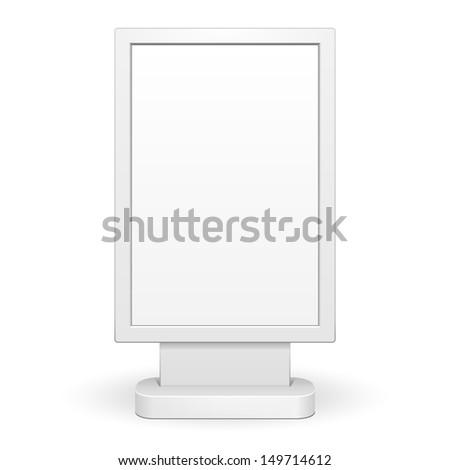 3D Outdoor Advertising Citylight Lightbox Advertising. Illustration Isolated On White Background. Vector EPS10  - stock vector
