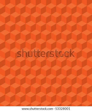 3d pattern cubes - stock vector