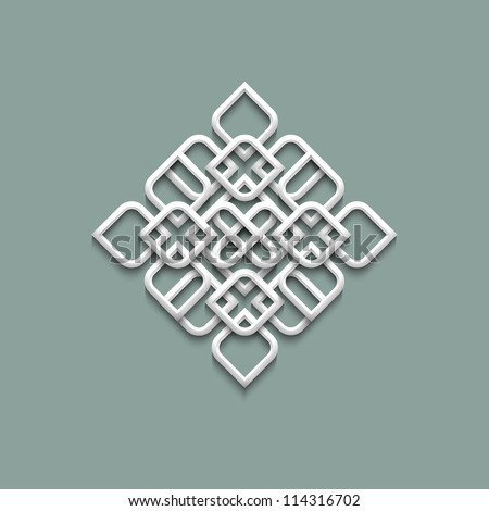 3d pattern in arabic style. Vector illustration - stock vector