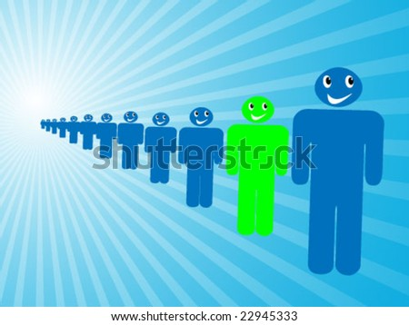 3d people arrangement