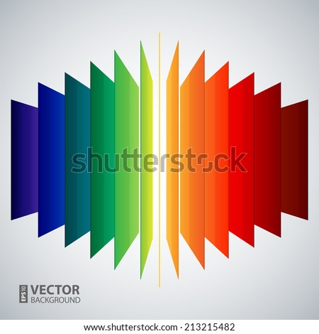 3d perspective rainbow abstract rectangles on white background. RGB EPS 10 vector illustration - stock vector