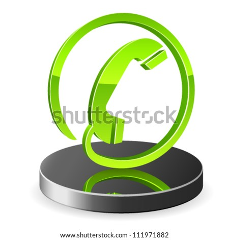 3d phone icon - vector illustration - stock vector