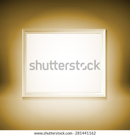3D picture frame design vector for image or text art