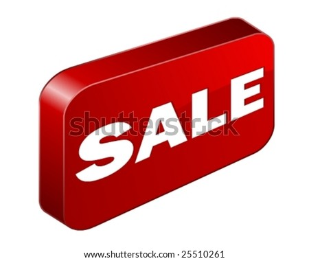 3D price Button/Tag in vector art - stock vector