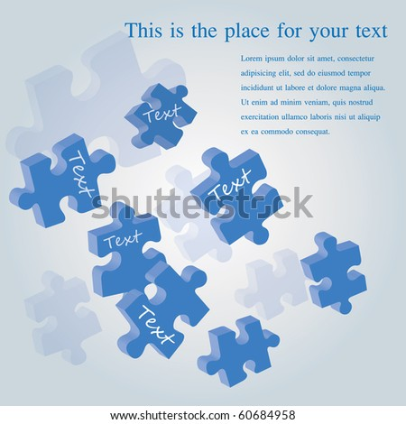 3d puzzle vector illustration - stock vector