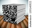 3d qr code vector object - stock photo