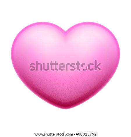 3d red Heart, valentine heart vector illustration. Isolated on white background - stock vector