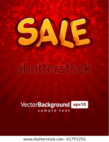 3d sale message vector background. Eps 10 - stock vector