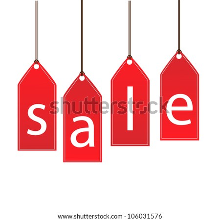 3d Sale text, on white background - stock vector